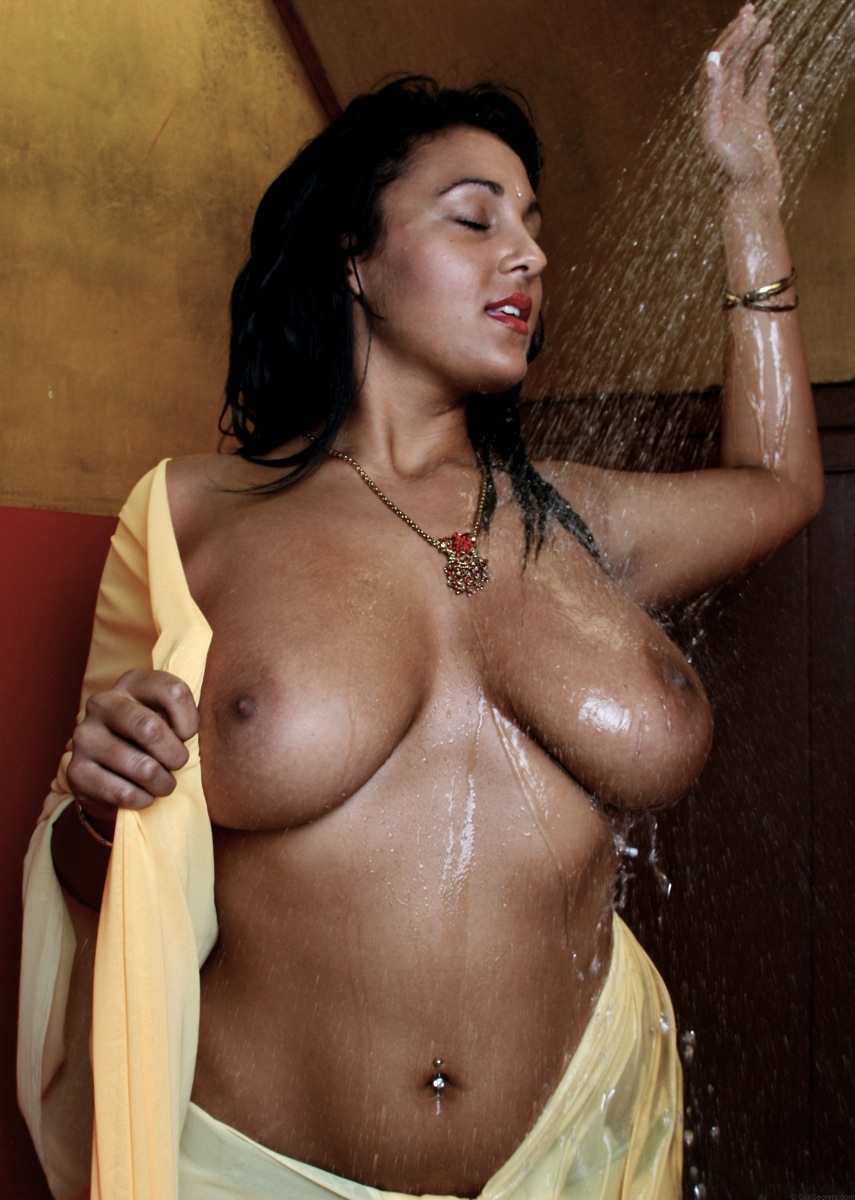 Amusing Black naked indian girl takes a bath think
