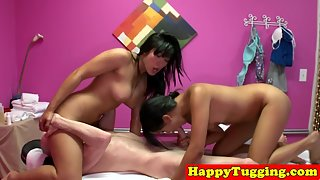 Masseuse Ladies Giving Dick Massage to Client For Extra Cash