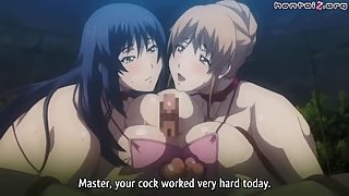 Big titty anime ladies juicy cunt drilled and creampied for pleasure