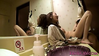 Hairy Muff Japanese Babe Picked Licked by Partner and Hammered